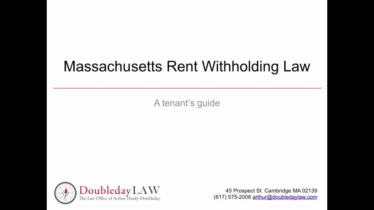 Can I Withhold My Rent In Massachusetts
