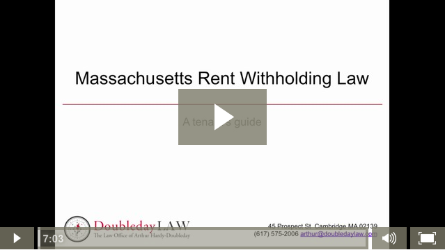 Rent Withholding in Massachusetts